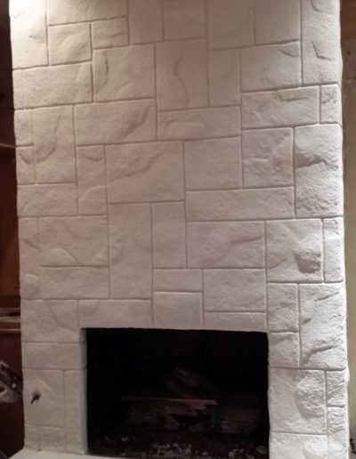 White textured Fireplace by LimeCoat