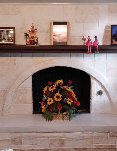 Festive LimeCoat DFW Interior Fireplace