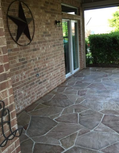 Patio with Texas Star