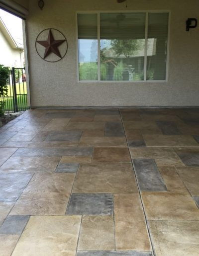 Patio completed by LimeCoat DFW