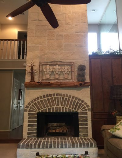 Beautiful Fireplace Wall completed by LimeCoat DFW
