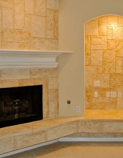 Beautiful Wall and Fireplace completed by LimeCoat DFW